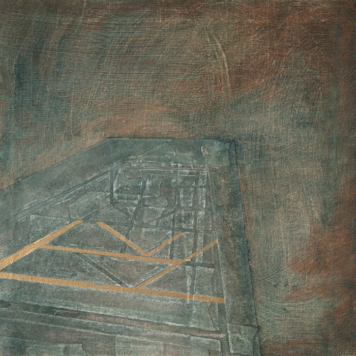 'Foundations' 30cm * 30cm Oil and paper on canvas